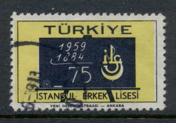 Turkey 1959 Istanbul Secondary Boys School FU