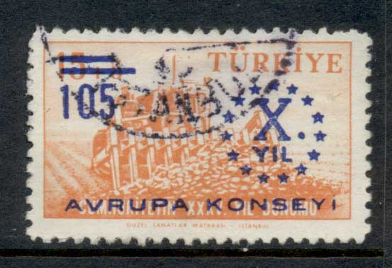 Turkey 1959 Council of Europa FU