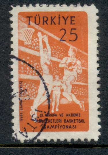 Turkey 1959 Basketball FU