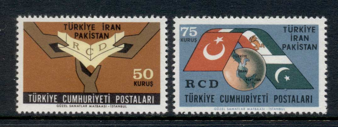 Turkey 1965 Regional Cooperation Pact MLH - Click Image to Close