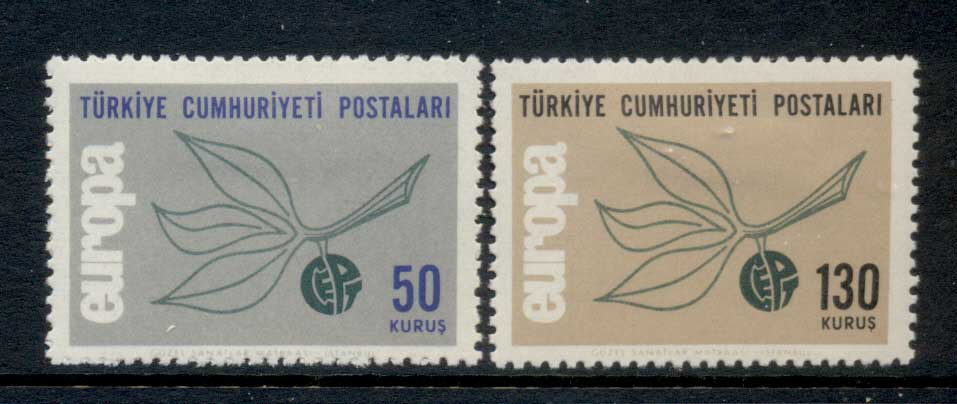 Turkey 1965 Europa MLH - Click Image to Close