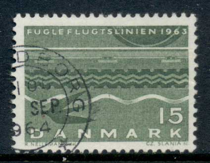 Denmark 1963 Bird Flight Line FU