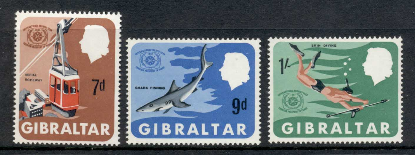 Gibraltar 1967 International Tourist year MUH
