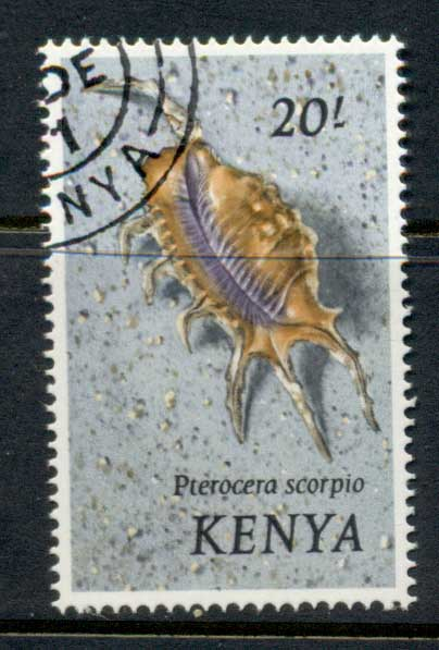 Kenya 1971 Pictorial, Shells 20/- FU