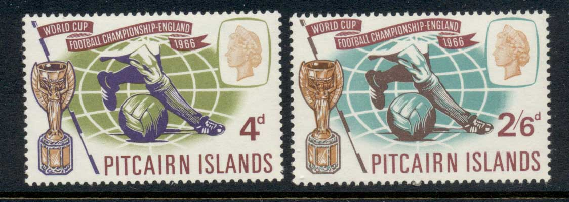 Pitcairn Is 1966 World Cup Soccer MUH