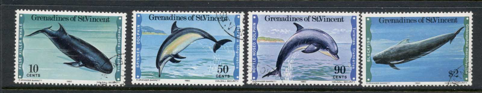 St Vincent Grenadines 1979 Whales & Dolphins FU