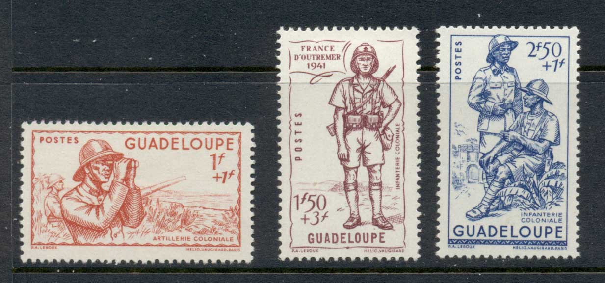 Guadeloupe 1941 Vichy Issue MLH