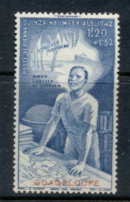 Guadeloupe 1942 Colonial Development Fund MLH