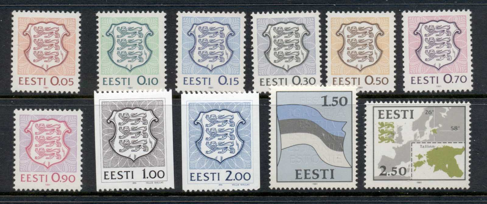 Estonia 1991 Definitives & Coils MUH