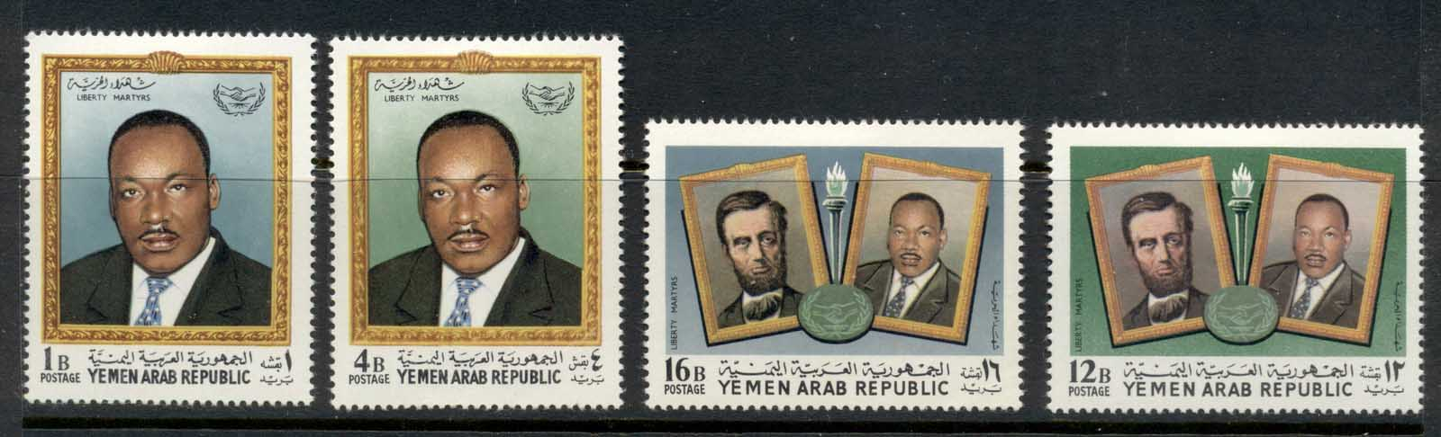 Yemen 1968 Mi#855-858 Fighters for Human Rights CTO