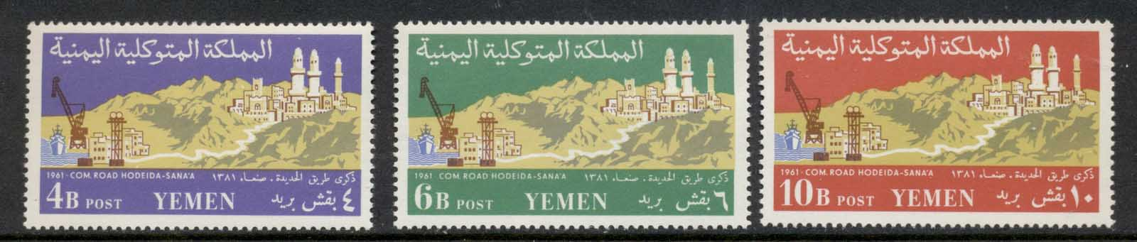 Yemen 1961 Mi#230-232 Completion of the Road from Hodeida to Sana'a MUH