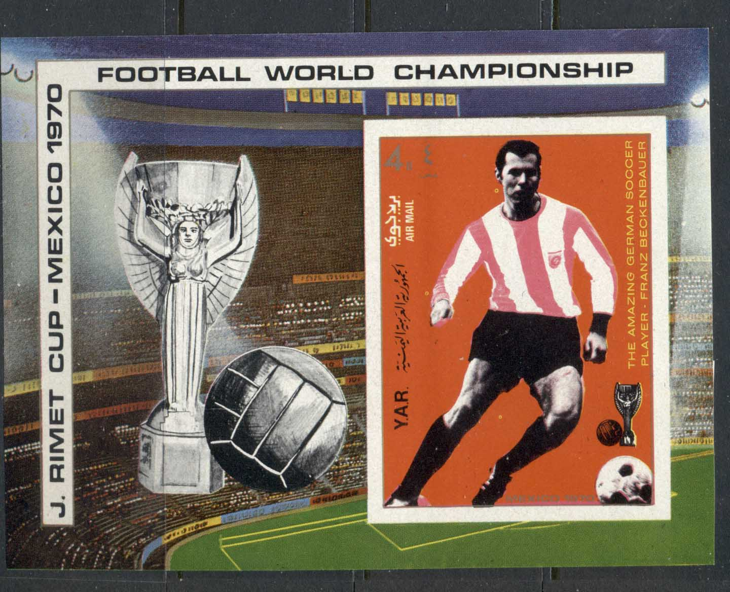 Yemen 1970 Mi#MS125 World Cup Soccer Mexico, Previous Venues MS MLH