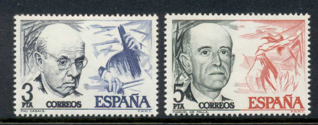 Spain 1976 Composers MUH