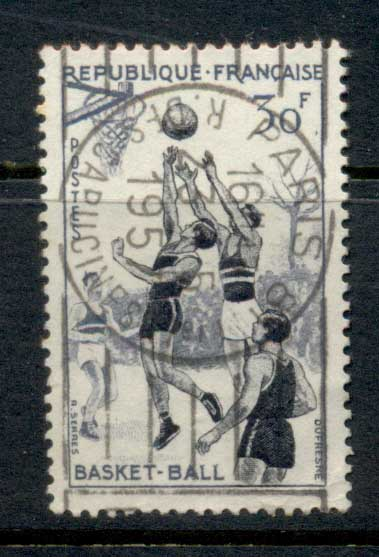 France 1956 Sport Basketball 30f FU