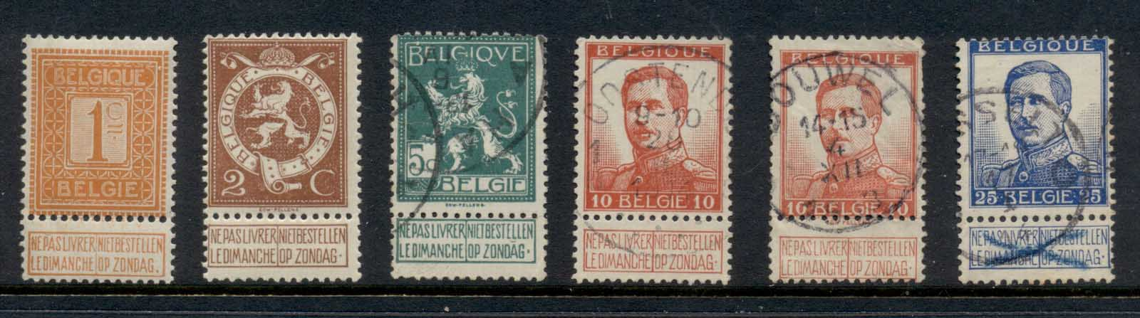 Belgium 1912-13 King Albert I, Lion Asst MLH/FU