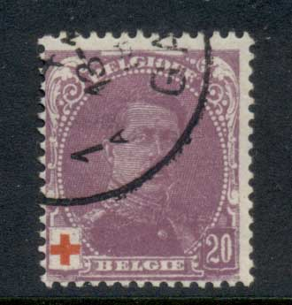 Belgium 1914 Welfare red Cross 20c FU