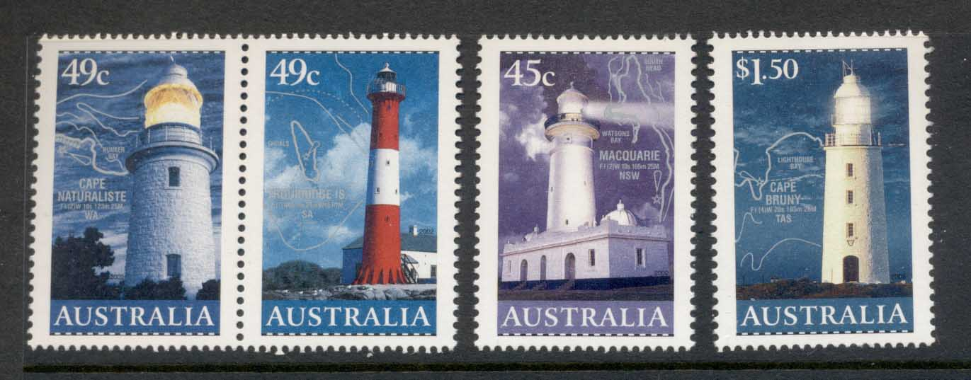Australia 2002 Lighthouses & Maps MUH
