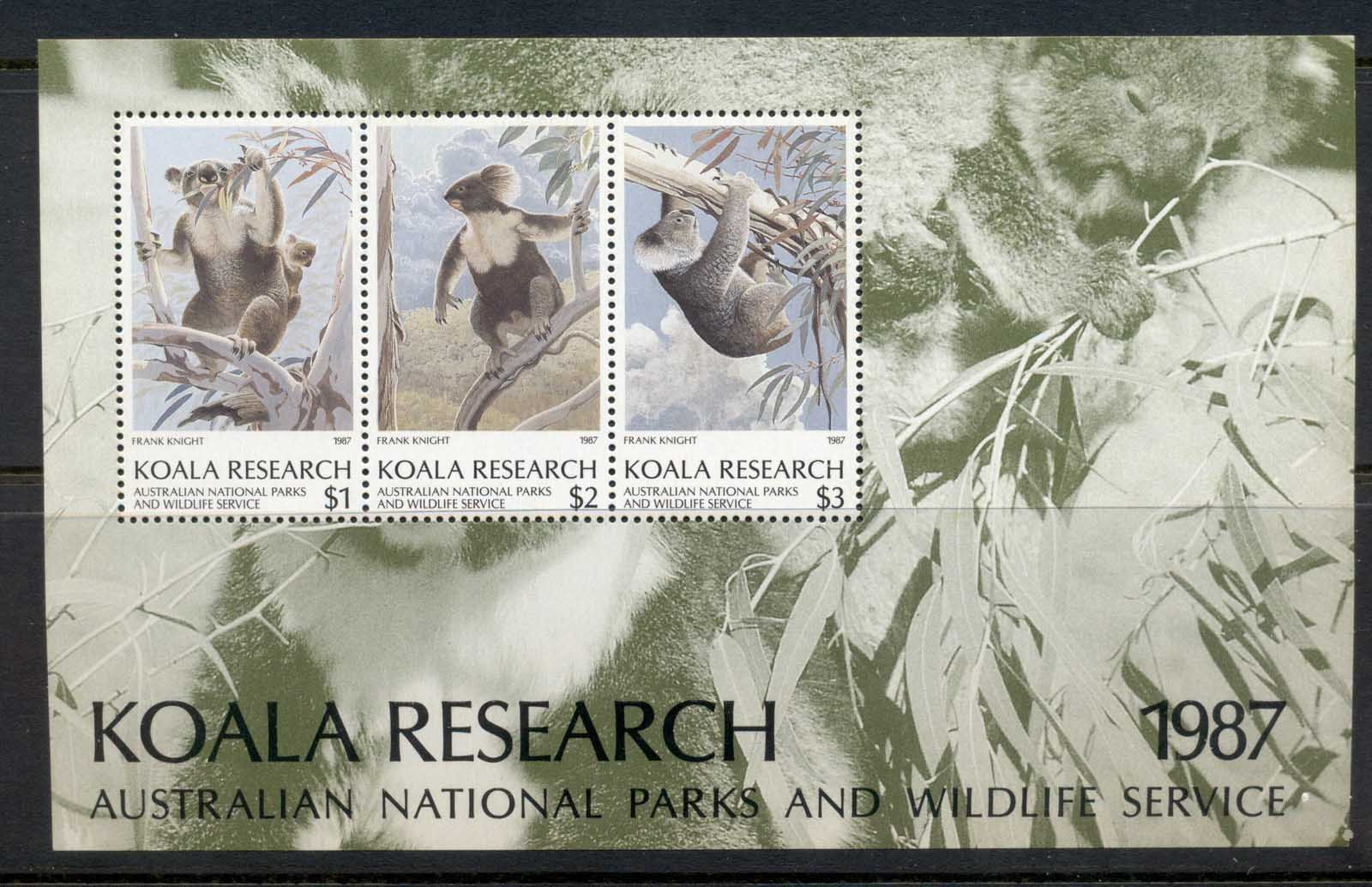 Australia 1987 National Parks & Wildlife Koala research MS MUH