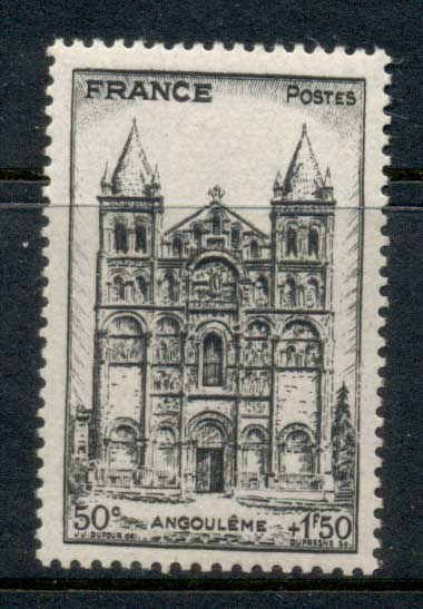 France 1944 French Cathederals, Angouleme MUH