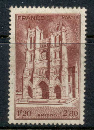 France 1944 French Cathederals, Amiens MUH