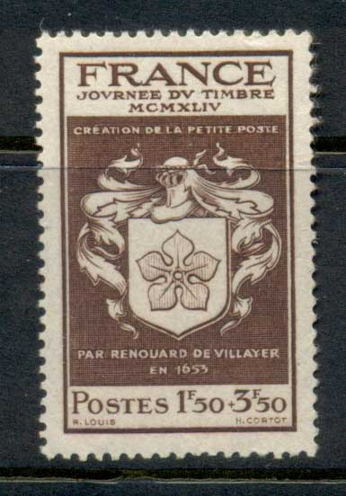 France 1944 Stamp Day MUH