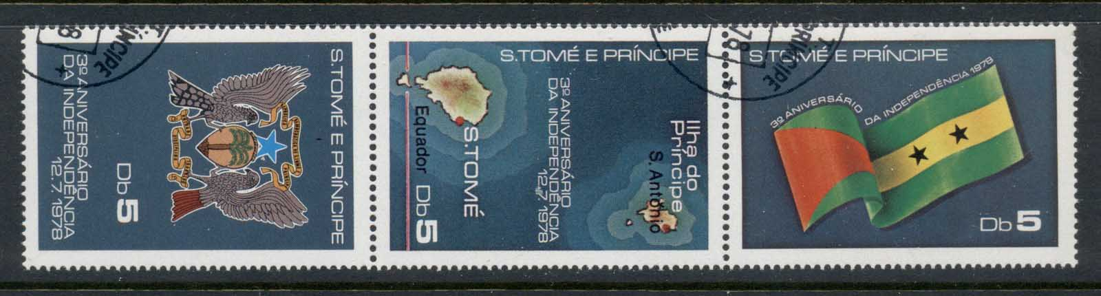 Sao Tome et Principe 1978 Independence 3rd Anniv str3 CTO
