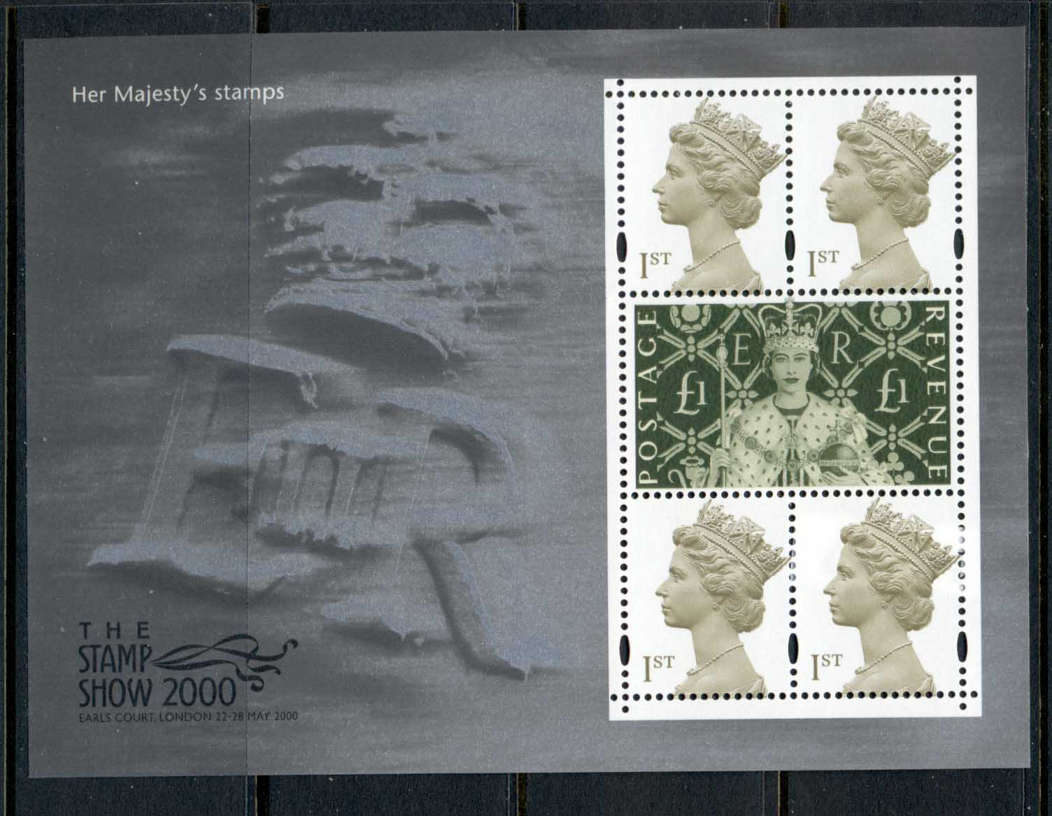GB 2000 Her Majesty's Stamps Stamp Show MS MUH