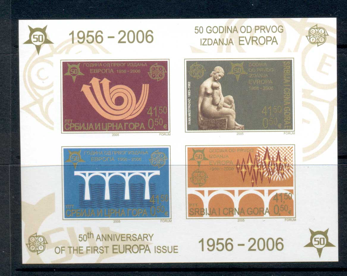 Serbia 2006 Europa Stamps 50th Anniv. MS MUH