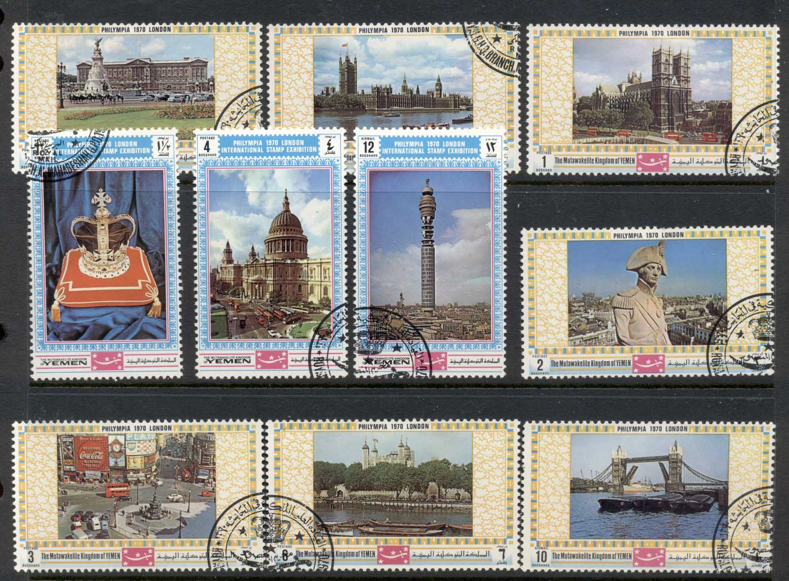 Yemen Kingdon 1970 Mi#1026-1035 Phylimpia Stamp Ex London Views CTO