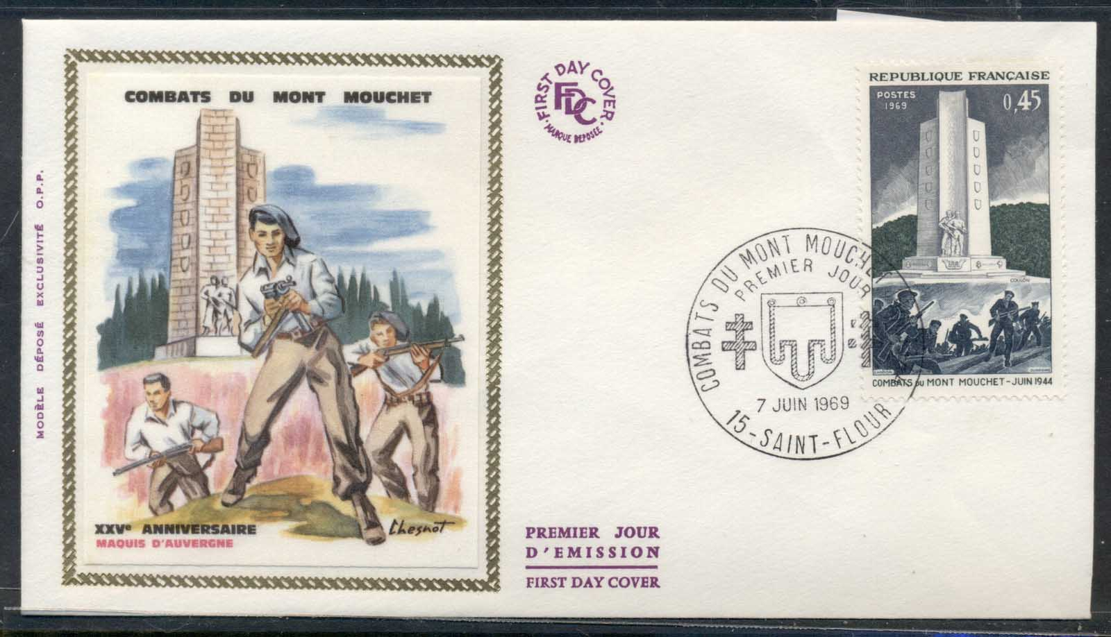 France 1969 Battle of Mount Mouchet FDC
