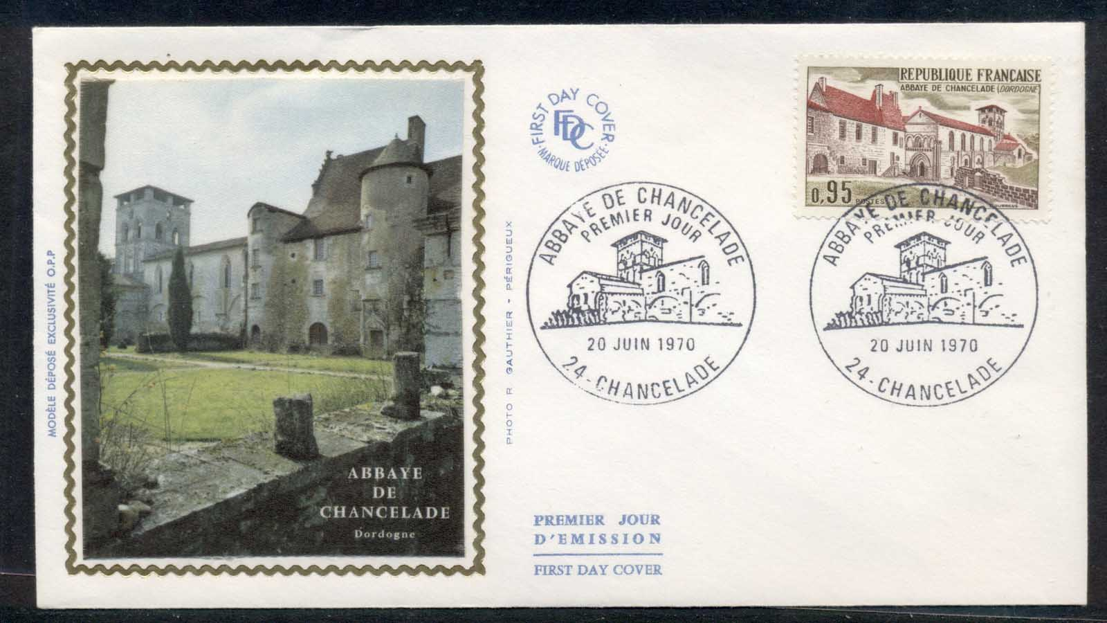 France 1970 Abbey of Chancelade FDC