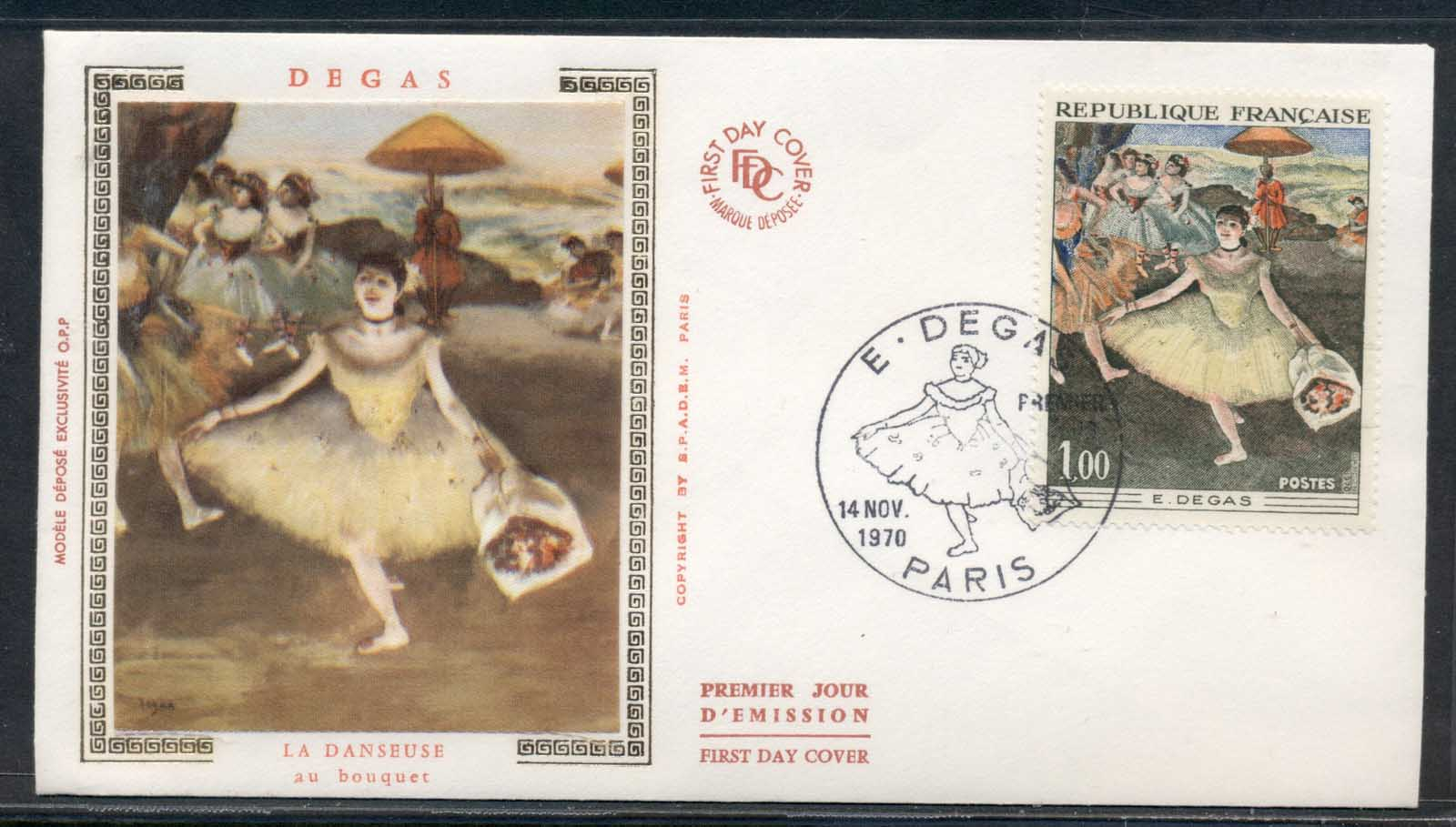 France 1970 Art, Degas the Dancers FDC