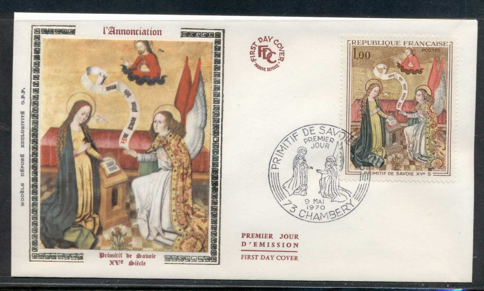 France 1970 Art, The Annunciation FDC