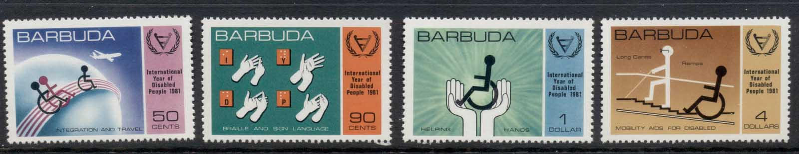 Barbuda 1985 Intl. year of Disabled MUH