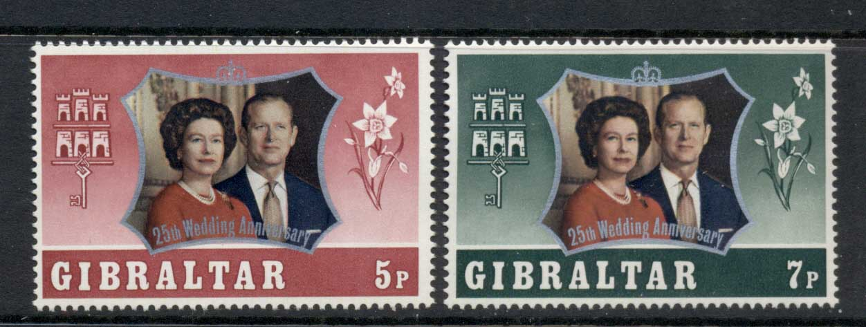 Gibraltar 1972 Silver Wedding MLH