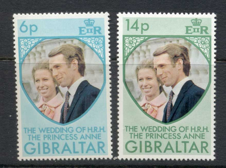 Gibraltar 1973 Royal Wedding Princess Anne MLH