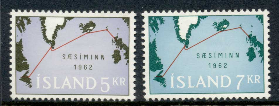 Iceland 1962 Submarine Cable Map MLH