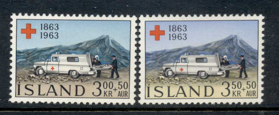 Iceland 1963 Red Cross MLH