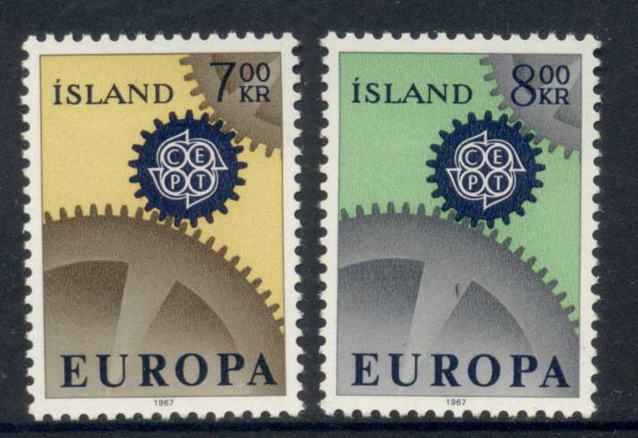 Iceland 1967 Europa MLH