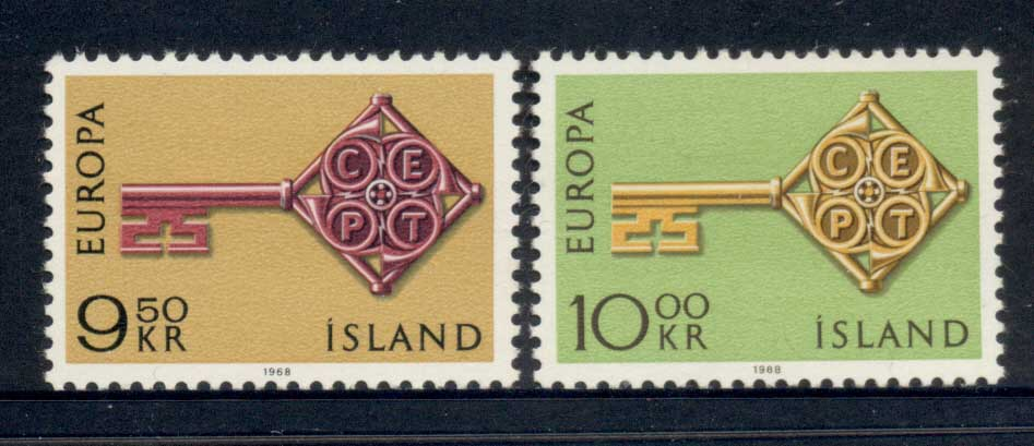 Iceland 1968 Europa MLH