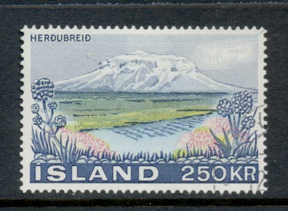 Iceland 1972 Herdubreid Mountain MLH