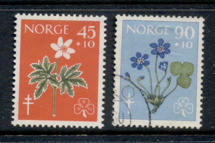 Norway 1960 Anti Tuberculosis, Flowers MLH/FU