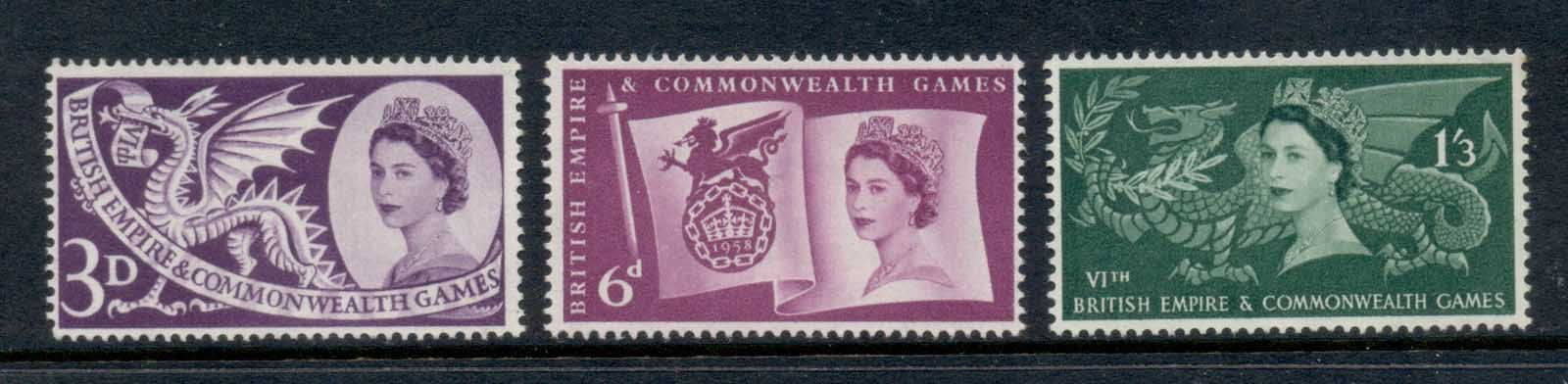 GB 1958 British Empire & Commonwealth Games MLH