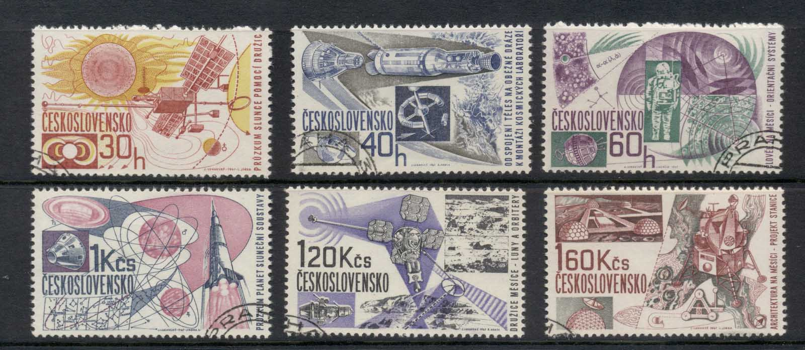 Czechoslovakia 1967 Space Research CTO