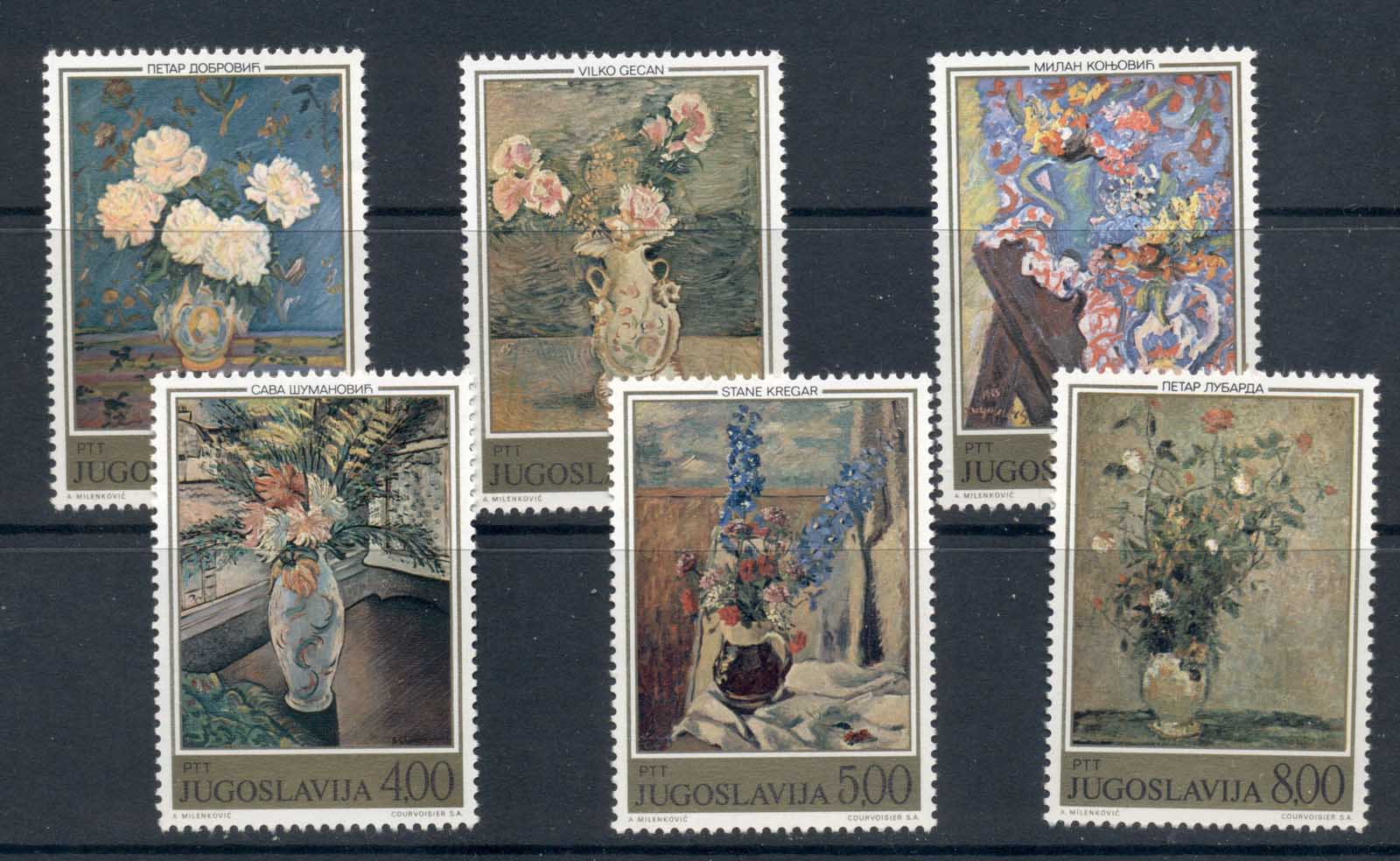 Yugoslavia 1974 Paintings of Flowers MUH