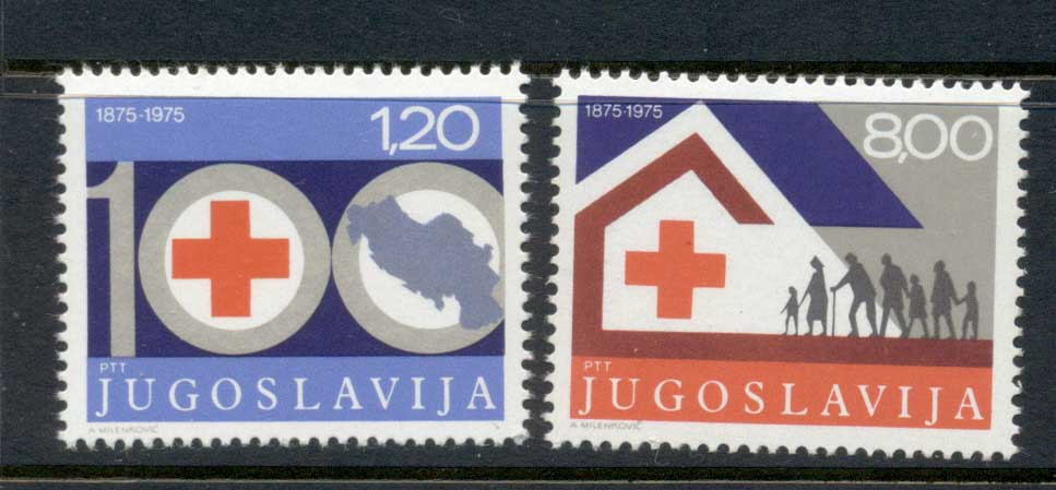 Yugoslavia 1975 Red Cross cent. MUH