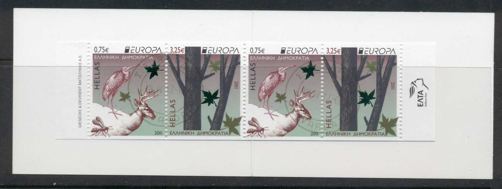 Greece 2011 Europa The Forest booklet FU