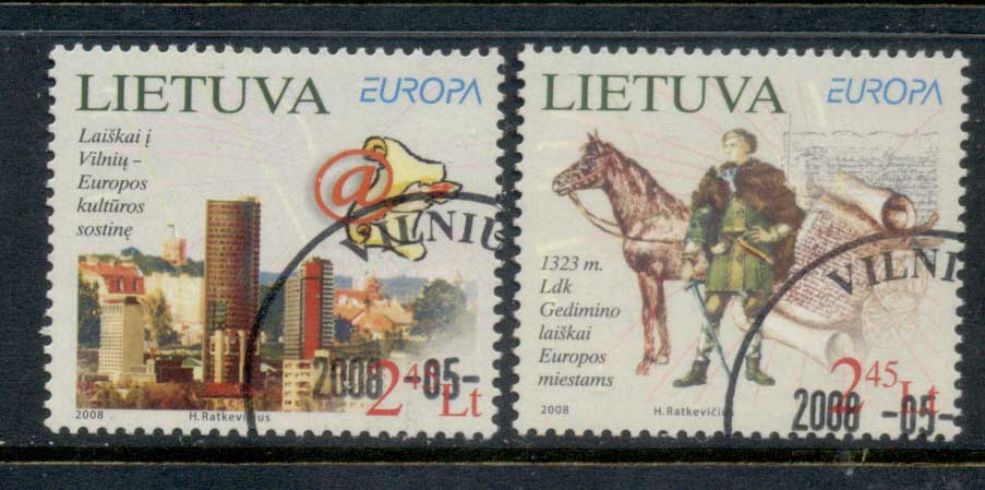 Lithuania 2008 Europa The Letter FU