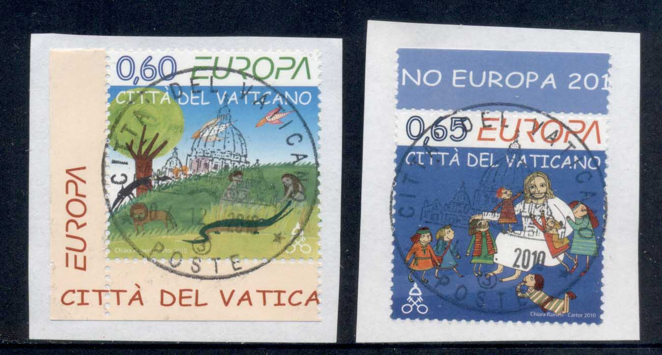 Vatican 2010 Europa Children's Books on piece FU