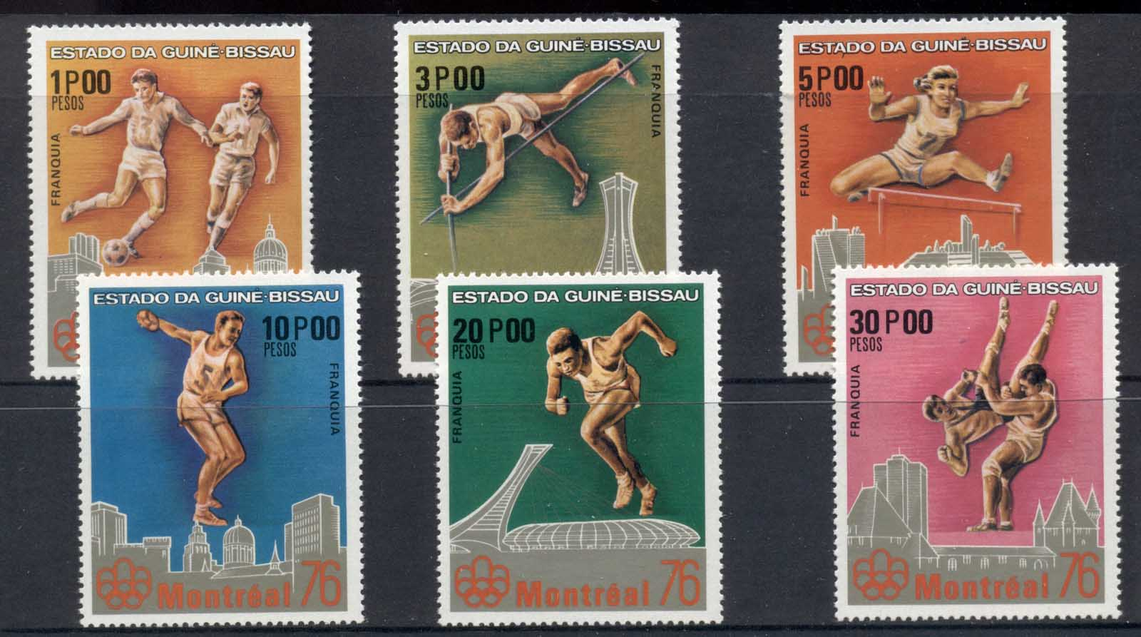 Guinea Bissau 1976 Summer Olympics Montreal MUH